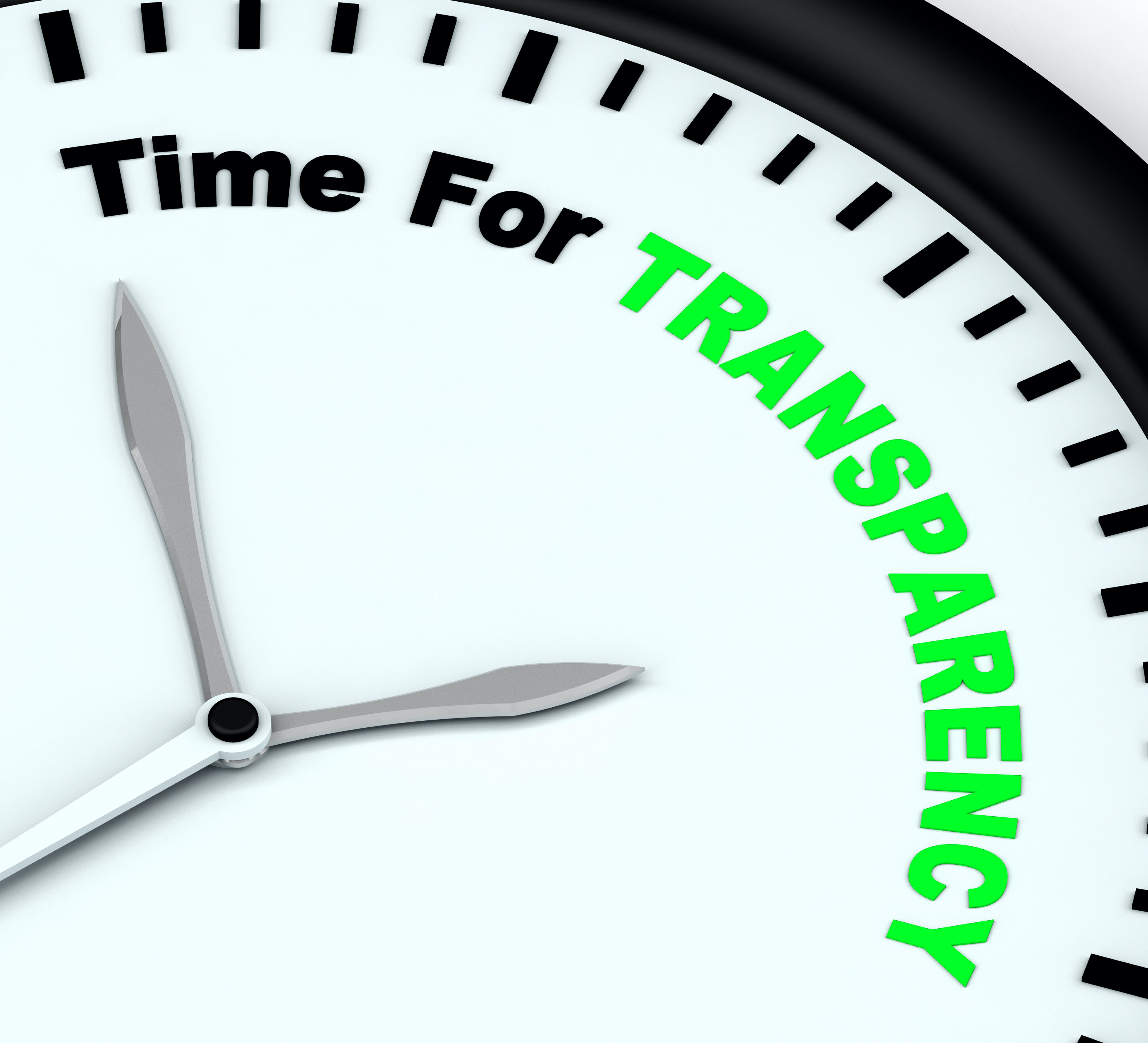 Time For Transparency Message Showing Ethics And Fairness